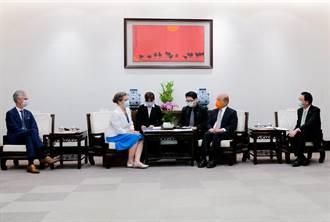蘇貞昌接見AIT處長孫曉雅 感謝美國贈台250萬劑疫苗