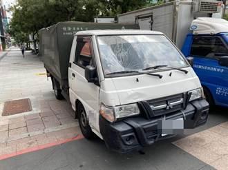 疑因視線死角 西門町小貨車轉彎撞上79歲老婦