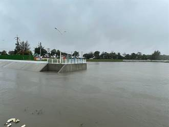 北港滯洪池排水道逆流 雲林縣府擬加開一條順向排水道