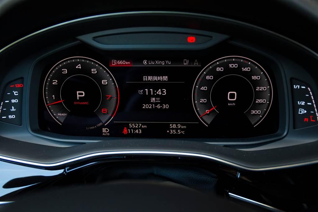 數位儀錶早已在Audi車系廣泛運用,Q8上自然也是標配。(圖/陳彥文攝)
