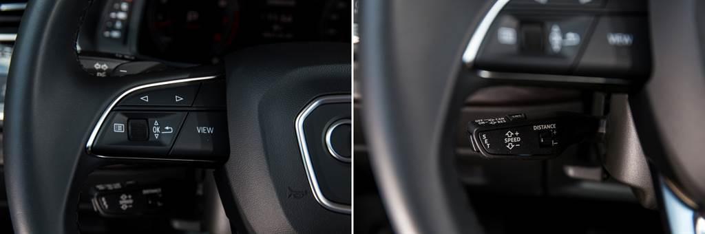 方向盤上的按鍵仍就採用實體,且一個區域僅操作一種功能,不易發生錯誤。(圖/陳彥文攝)