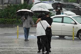 熱帶低壓將大迴轉 鋒面來襲連雨3天 2地區雨最多