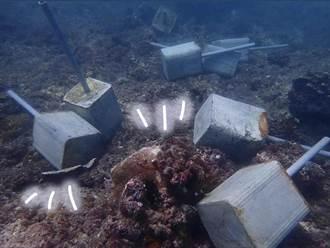 小琉球保育區驚見船錨、水泥柱砸毀珊瑚 屏東縣府:全力緝兇