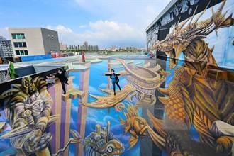 跌入時空之城全臺最大3D空中彩繪