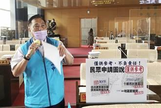 中市議員批都發局稱圖說僅供參考 黃文彬:內部會加強要求
