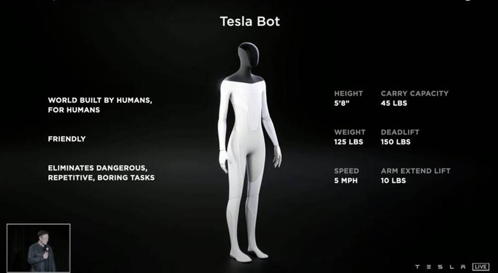 馬斯克拋震撼彈:特斯拉機器人「Tesla Bot」明年推出(圖/DDCar)