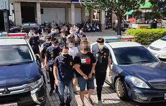 佈線多時 苓雅警遠赴台東強掃9人非法黑幫