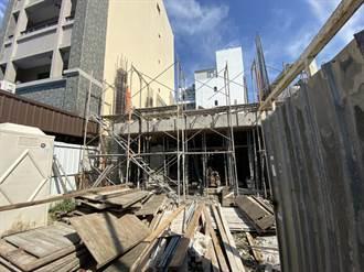 台中工安意外!鷹架未固定好突倒塌  工人從二樓摔下急送醫