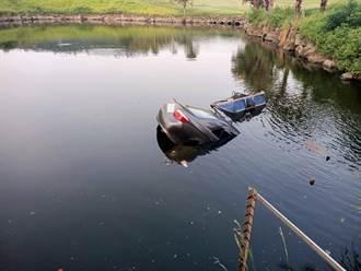 高爾夫球場保全驚見小客車「直插湖中」 駕駛沉2公尺湖裡不治