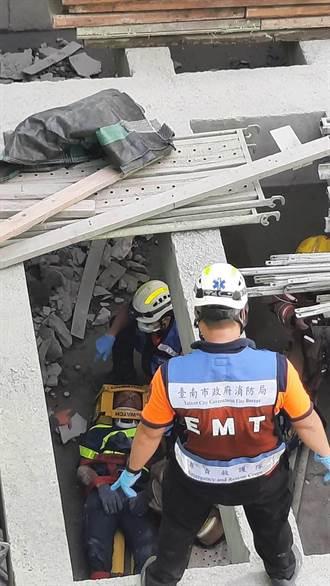 南科工安意外 1工人墜落2公尺深地下層獲救送醫