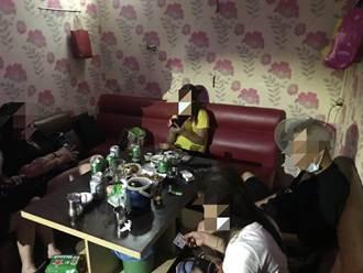 醉男大鬧生日趴 桃園茶室偷營業遭抓包老闆娘臉綠了