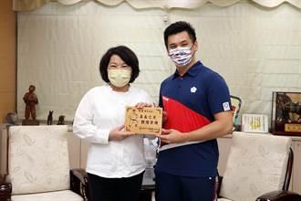 空手道國手王翌達拜會市長黃敏惠 東奧賽場最想喊:我是嘉義囝仔