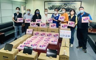 立委許淑華號召企業 捐522台平板電腦助學生線上學習