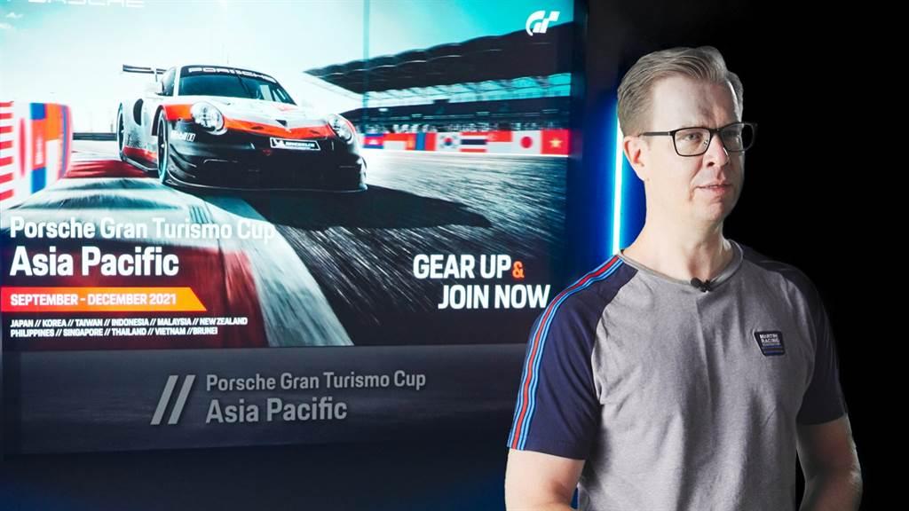 台灣保時捷總裁Mathias Busse表示:「Porsche Gran Turismo Cup Asia Pacific競賽是我們擴大與粉絲溝通的最佳起點,讓車迷們在虛擬世界中也能更認識保時捷品牌;這是台灣保時捷邁向虛擬賽車的第一步,我們期待透過這個活動認識更多新世代的賽車迷,也請各位期待台灣保時捷的下一步。」(圖/業者提供)