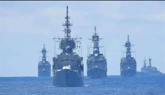 海軍艦隊戰術操演!4艘紀德艦同時出動 氣勢驚人