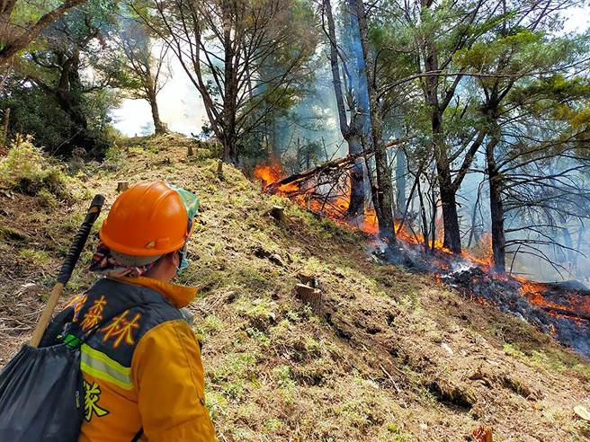 NCC前專委喬建中等5人引發12天森林大火,造成大水窟森林受害面積超過70公頃。(南投地檢署提供/黃國峰南投傳真)