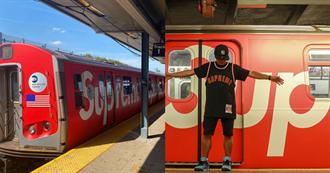 至尊列車出發!紐約地鐵出現Supreme列車潮流迷搶打卡
