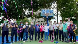 中市黎明公園籃球場整建啟用 盧秀燕:完善運動設施推展酷運動