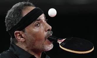 東京帕運》埃及桌球員「嘴揮拍腳發球」 兒時被笑燃鬥志