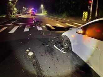 台東初鹿汽機車擦撞 酒駕男騎士重傷不治