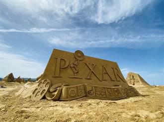 2021福隆國際沙雕藝術季 皮克斯動畫經典角色中秋現身黃金沙灘