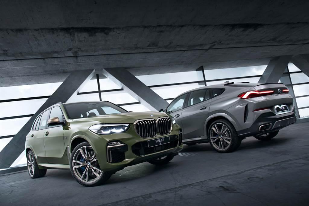 全新BMW X5 M50i  X6 M50i Individual Edition共有四款BMW專屬特殊車色供車主選擇。(圖/業者提供)