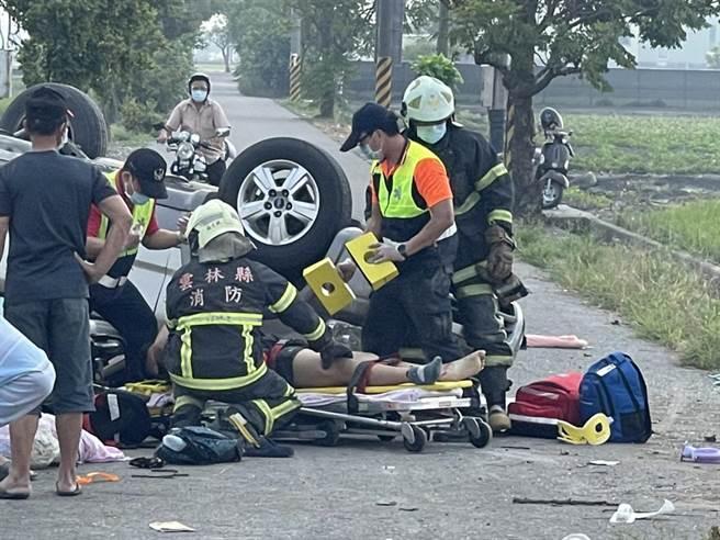 甫走出去年喪夫之痛的林姓幼兒園林姓教師,昨又逢車禍失2子與小兒子截肢劫難。(圖/民眾提供)