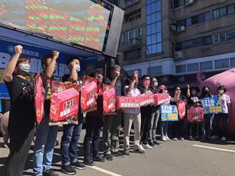 與卓、張同台參加公投宣傳活動 江啟臣:公投的重要性高於主席選舉