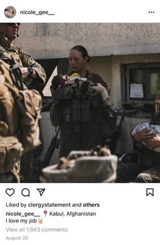 美國抱嬰女兵才說「我愛我的工作」 不幸陣亡