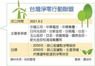 碳中和邁步 龍頭企業 組台灣淨零大聯盟