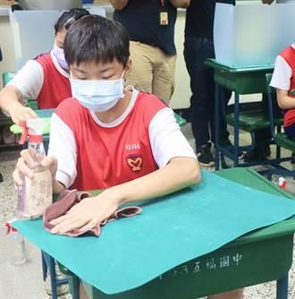 開學在即 高雄巿五福國中防疫措施準備好了