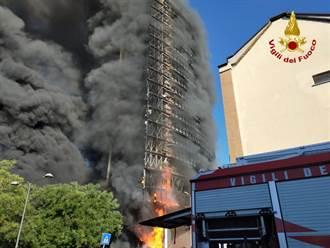 米蘭20層高樓失火 住戶:外牆如奶油般迅速融化
