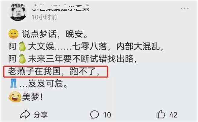 趙薇被網友爆料逃不出大陸。(圖/翻攝自微博)