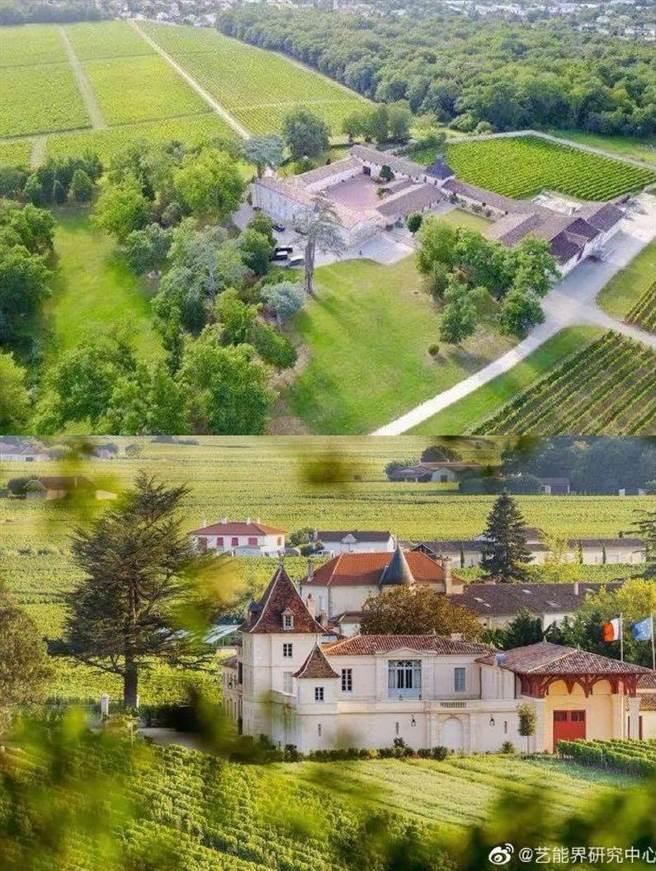 趙薇和老公黃有龍買的14億法國酒莊。(圖/微博)