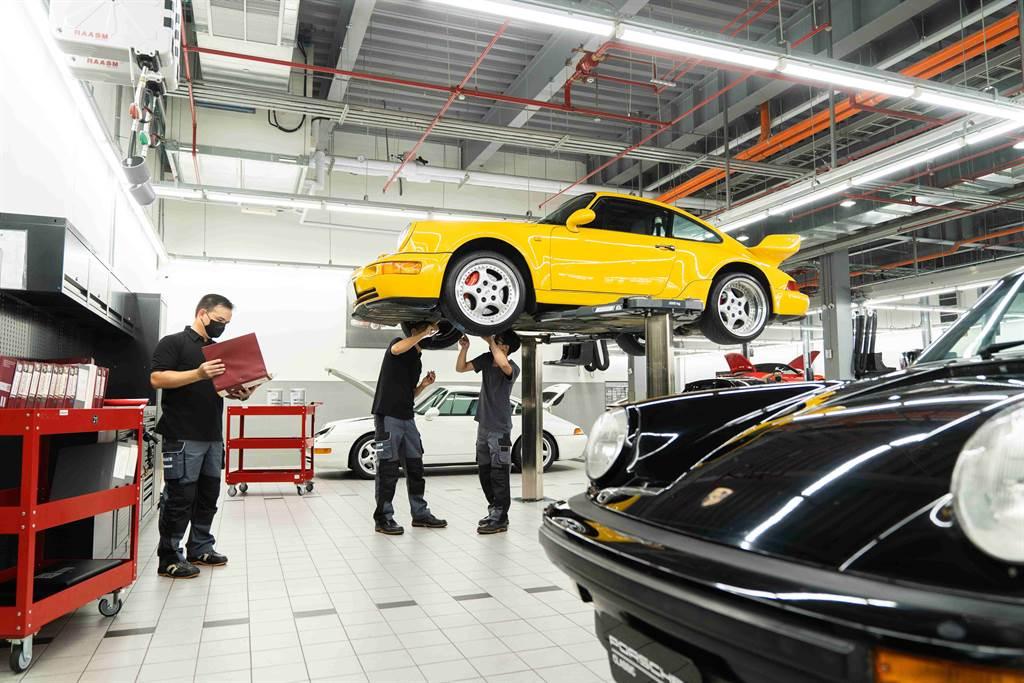 台北保時捷成為全台第一座集結售後服務、保養修復與銷售諮詢的保時捷經典車服務據點。(圖/業者提供)