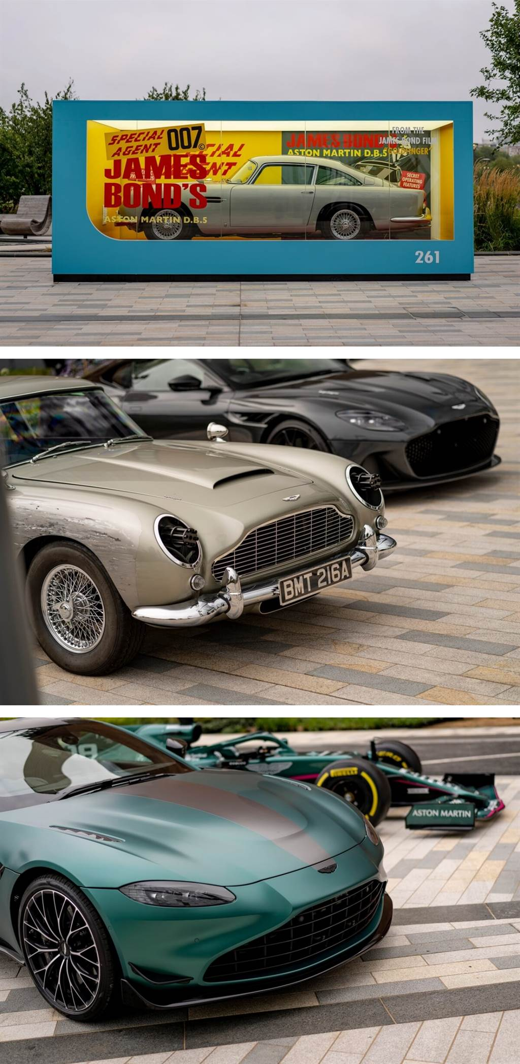 Aston Martin推出最新一集007:生死交戰宣傳影片,並製作了全尺寸DB5玩具模型盒(圖/CarStuff)