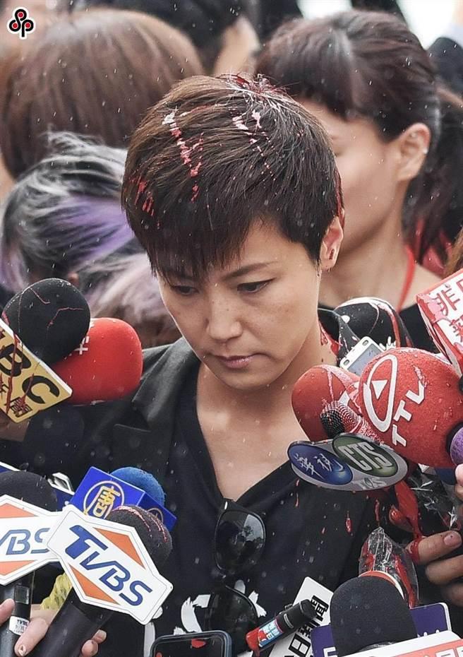 何韻詩2019年9月27日來台參加反送中活動遭潑漆,檢方起訴涉案11人。(本報資料照片/玉英豪攝)