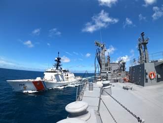 美海警艦演練接受日艦補給後穿航臺海 陸媒:氣焰囂張!