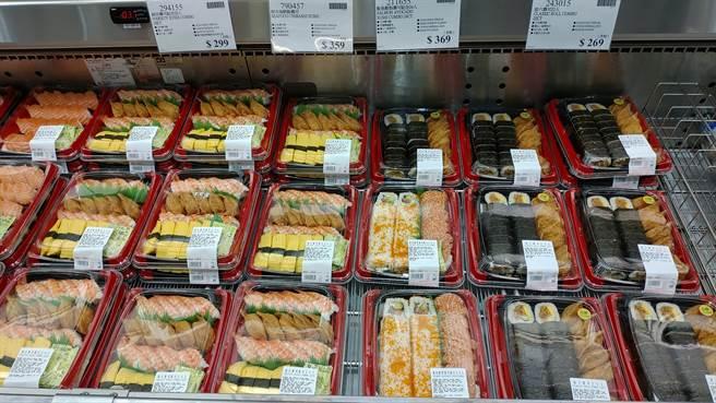 美式賣場好市多生鮮食品區的壽司相當熱銷。(示意圖/摘自Costco好市多 商品經驗老實說)
