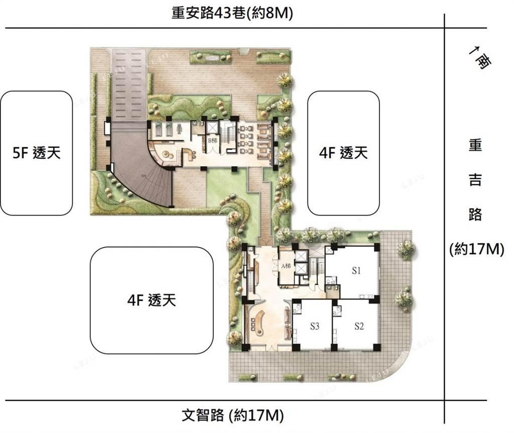 一樓平面分析(圖/樂居LEJU)