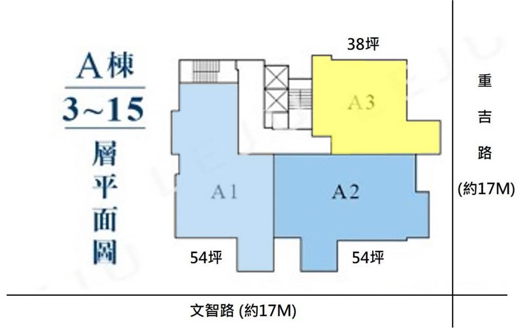 A棟標準層(圖/樂居LEJU)