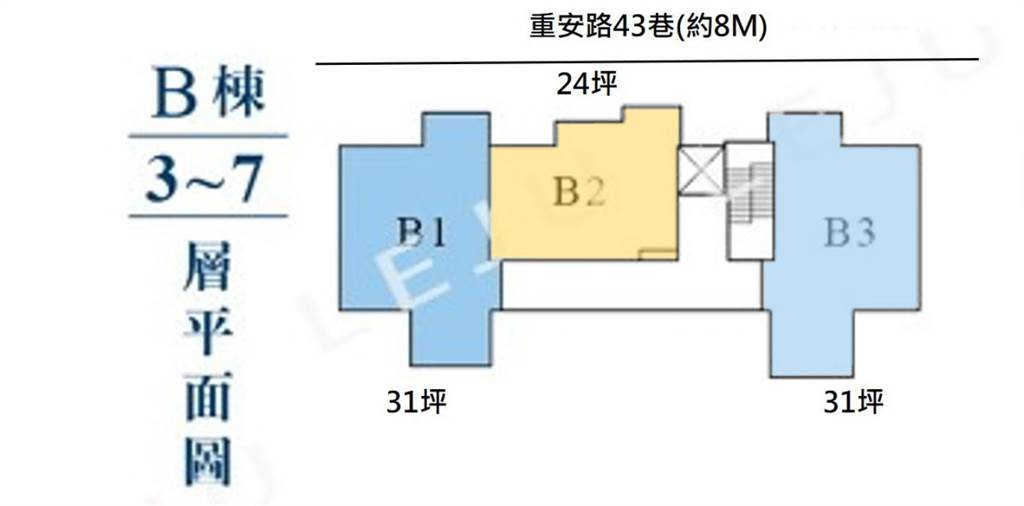 B棟標準層(圖/樂居LEJU)