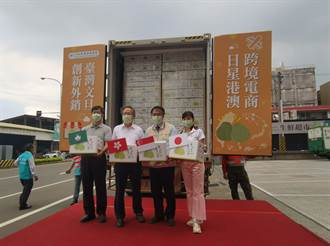 台南文旦飄香海外 跨境電商直送香港封櫃啟航