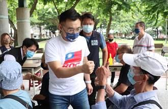 國民黨主席爭霸戰 江啟臣與朱立倫台中展開激烈肉搏戰