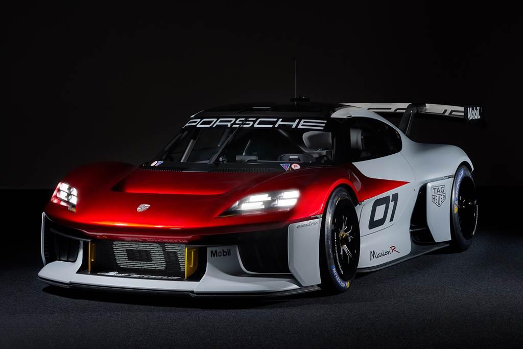 保時捷Mission R 展示概念車今天於慕尼黑車展IAA MOBILITY 全球首度亮相。(圖/Porsche提供)
