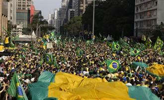 巴西總統帶頭示威反民主  發表宣言威脅司法