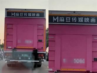 國道見成人平台粉色貨車 老司機嗨翻求上車:台版魔鏡號