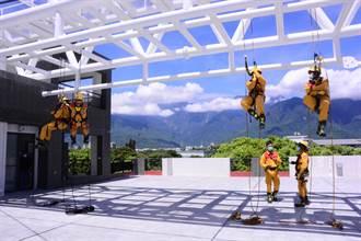 外觀像「雲梯車」 花蓮消防新廳舍啟用