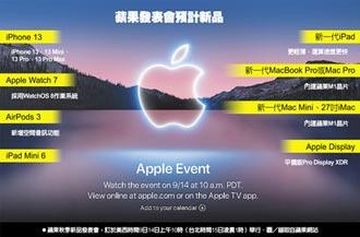 蘋果14日大秀 iPhone 13來了