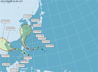 璨樹發海警!路徑改擦邊球 半個台灣逾70%暴風侵襲